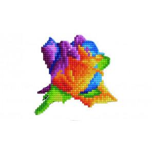 Роза Алмазная вышивка мозаика P24