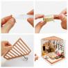 Процесс сборки Милая спальня Набор для создания миниатюры румбокс