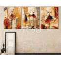 Изящные балерины Триптих Раскраска по номерам на холсте Iteso