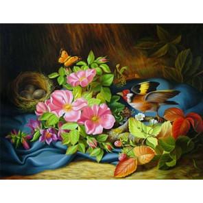 Гнездо Ткань для вышивки лентами Каролинка