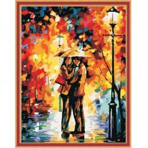 Осенний поцелуй Раскраска по номерам на холсте Color Kit
