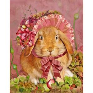 Крольчиха Ткань для вышивки лентами Каролинка