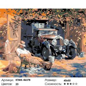 Количество цветов и сложность Любимое авто Раскраска по номерам на холсте Живопись по номерам KTMK-46378