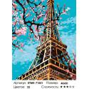 Количество цветов и сложность Весенняя Эйфелева башня Раскраска по номерам на холсте Живопись по номерам KTMK-71551