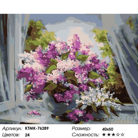 Количество цветов и сложность Свежий аромат сирени Раскраска по номерам на холсте Живопись по номерам KTMK-76289
