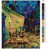 Раскладка Ночное кафе Раскраска по номерам на холсте Живопись по номерам KTMK-95153