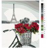 Раскладка Влюбленные в Париже Раскраска по номерам на холсте Живопись по номерам KTMK-10311