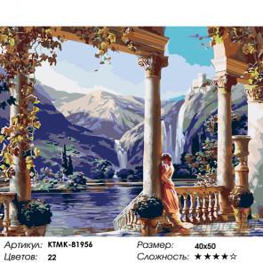 Греческий дворец Раскраска по номерам на холсте Живопись по номерам KTMK-81956