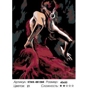 Количество цветов и сложность Ритмичный танец Раскраска по номерам на холсте Живопись по номерам KTMK-881584