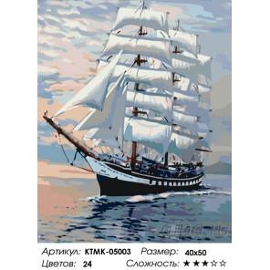 Количество цветов и сложность Белые паруса Раскраска по номерам на холсте Живопись по номерам KTMK-05003