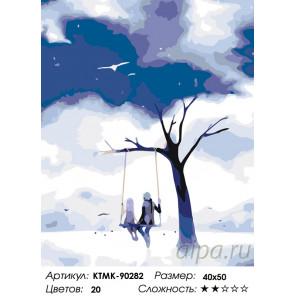 Количество цветов и сложность Крылатые качели Раскраска по номерам на холсте Живопись по номерам KTMK-90282
