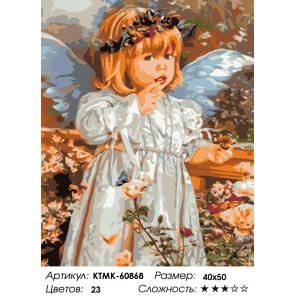 Количество цветов и сложность Тихий ангел Раскраска по номерам на холсте Живопись по номерам KTMK-60868