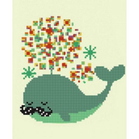 Веселый кит Канва с рисунком для вышивки бисером