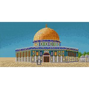 Мечеть Аль-Акса Канва с рисунком для вышивки бисером