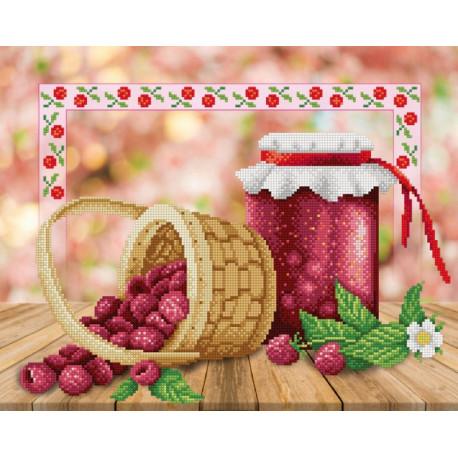 Варенье на зиму Канва с рисунком для вышивки бисером МП Студия