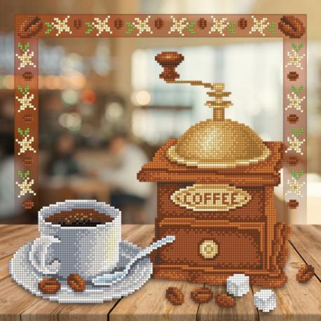 Аромат кофе Канва с рисунком для вышивки бисером МП Студия