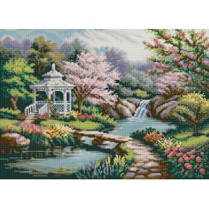 Беседка в саду Канва с рисунком для вышивки бисером 1239