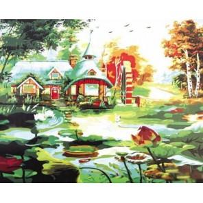 Сказочная мельница Раскраска картина по номерам акриловыми красками на холсте Paint by Number