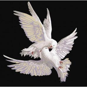 Пара голубей Канва с рисунком для вышивки бисером 8461