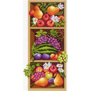 В рамке Полка с фруктами Канва с рисунком для вышивки Матренин посад 1394