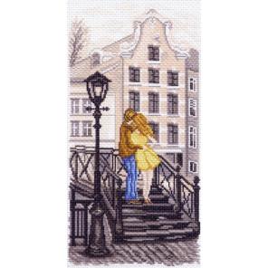В рамке Амстердам. Мостик Канва с рисунком для вышивки Матренин посад 1515