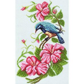 В рамке В цветущем краю Канва с рисунком для вышивки Матренин посад 1064