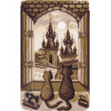 В рамке Ночная жизнь Канва с рисунком для вышивки Матренин посад 1550