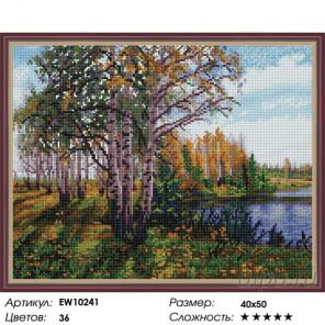 Количество цветов и сложность Осенние березки Алмазная вышивка мозаика на подрамнике EW10241
