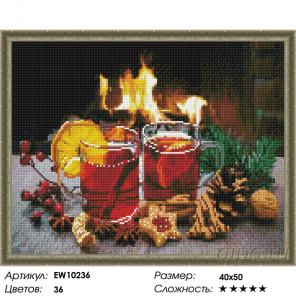 Количество цветов и сложность Рождественский глинтвейн Алмазная вышивка мозаика на подрамнике EW10236