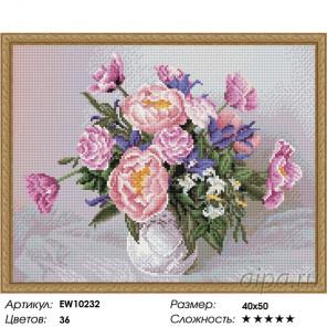 Количество цветов и сложность Садовый букет Алмазная вышивка мозаика на подрамнике EW10232