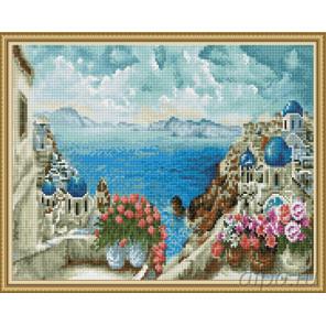 Море Греции Алмазная вышивка мозаика на подрамнике EW10198