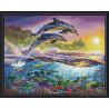 Дельфиньи игры Алмазная вышивка мозаика на подрамнике EW10193