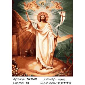 Воскресение Господне Раскраска картина по номерам на холсте GX26451