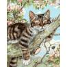 Котенок на ветке Раскраска картина по номерам на холсте GX27578