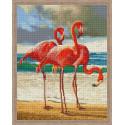 Танец розовых фламинго Алмазная вышивка мозаика на подрамнике