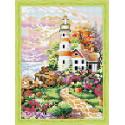 Тропинка к маяку Алмазная вышивка мозаика на подрамнике