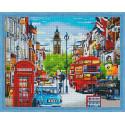 Улочки Лондона Алмазная вышивка мозаика на подрамнике
