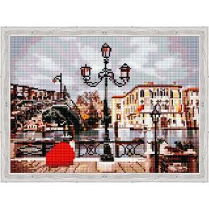 Фонарь и мост Алмазная вышивка мозаика на подрамнике