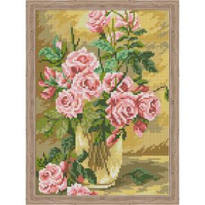 Розовое вдохновение Алмазная вышивка мозаика на подрамнике