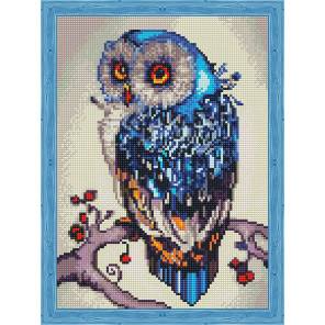 Необыкновенная сова Алмазная вышивка мозаика на подрамнике