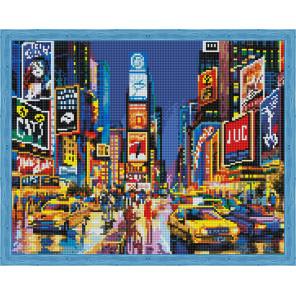 Нью Йорк в огнях рекламы Алмазная вышивка мозаика на подрамнике
