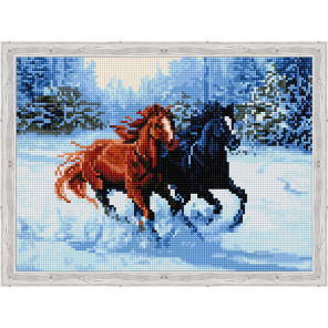 Пара лошадей Алмазная вышивка мозаика на подрамнике