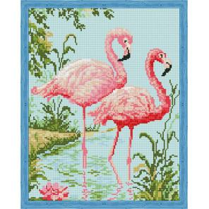 Парочка розовых фламинго Алмазная вышивка мозаика на подрамнике