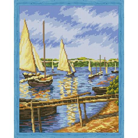 Парусные лодки Алмазная вышивка мозаика на подрамнике