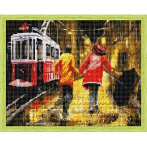 Последний трамвай Алмазная вышивка мозаика на подрамнике