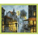 Дождь в городе Алмазная вышивка мозаика на подрамнике