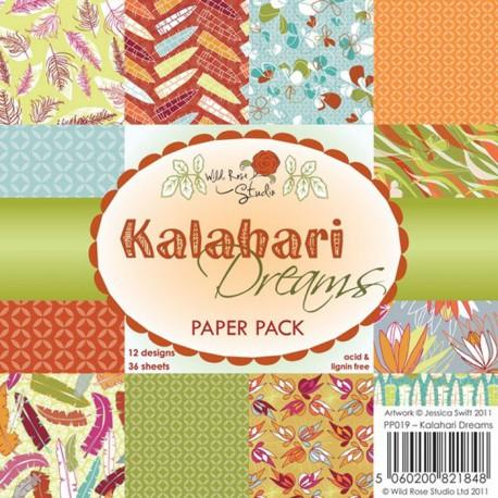 Мечты о Калахари Набор бумаги для скрапбукинга, кардмейкинга Wild Rose Studio