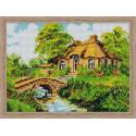 Дом с каменным мостиком Алмазная вышивка мозаика на подрамнике