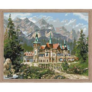 Замок Спящей красавицы Алмазная вышивка мозаика на подрамнике