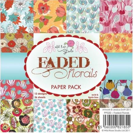 Цветы Набор бумаги для скрапбукинга, кардмейкинга Wild Rose Studio